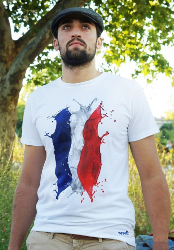T-shirt drapeau français