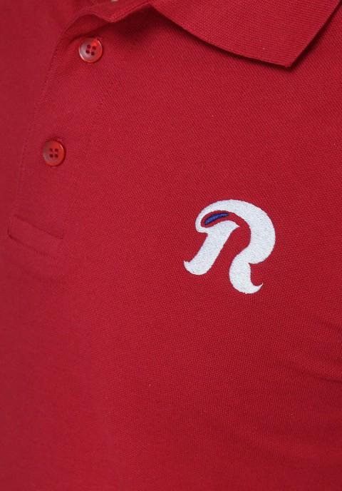 "Polo REVOLT - Rouge Bourgogne ""stretch"""