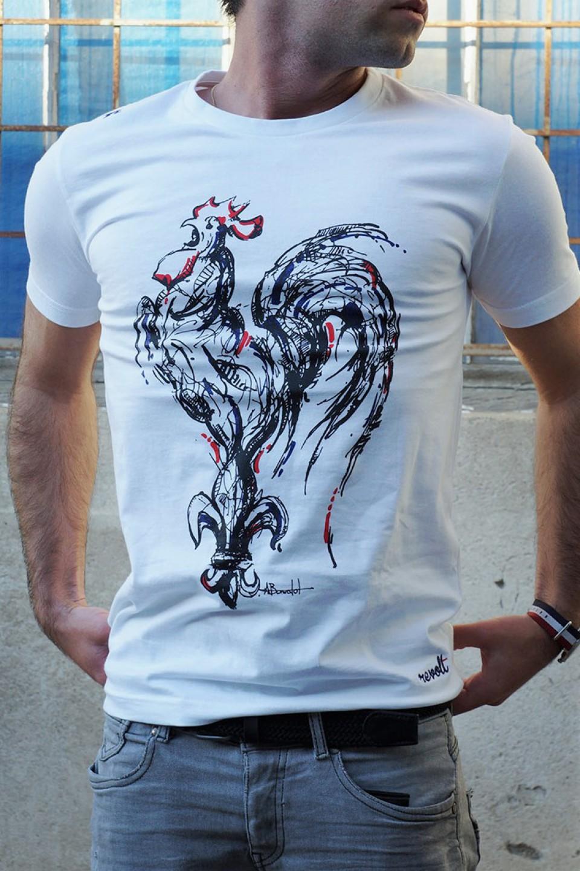 91794ced5ac54 REVOLT marque de vêtements made in France T-shirt REVOLT - Le Coq ...